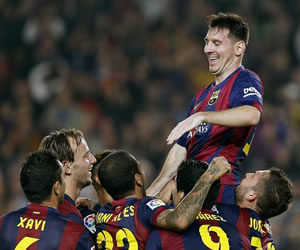 Messi iguala a Zarra como máximo goleador liguero de todos los tiempos