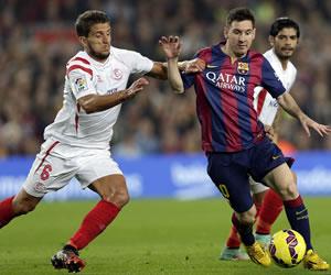 Sevilla sufre por Messi