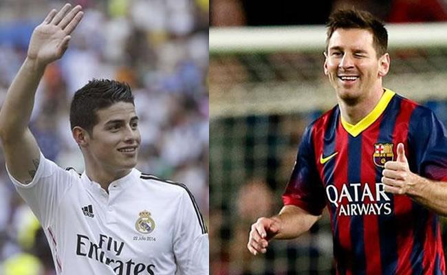 James y Messi optan al 'once' de año. Foto: EFE