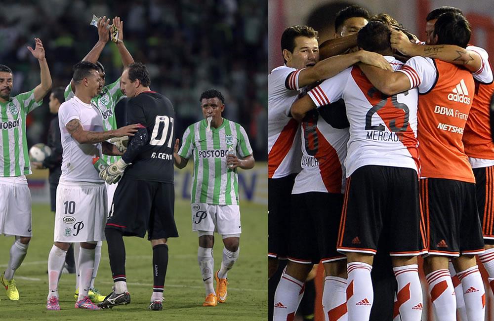 Nacional va por la ventaja en la final ante el River Plate de 'Teo' Gutiérrez. Foto: EFE