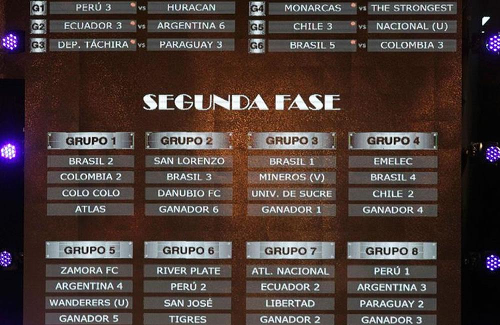 Vista general de la programación de la Copa Libertadores de América 2015. EFE