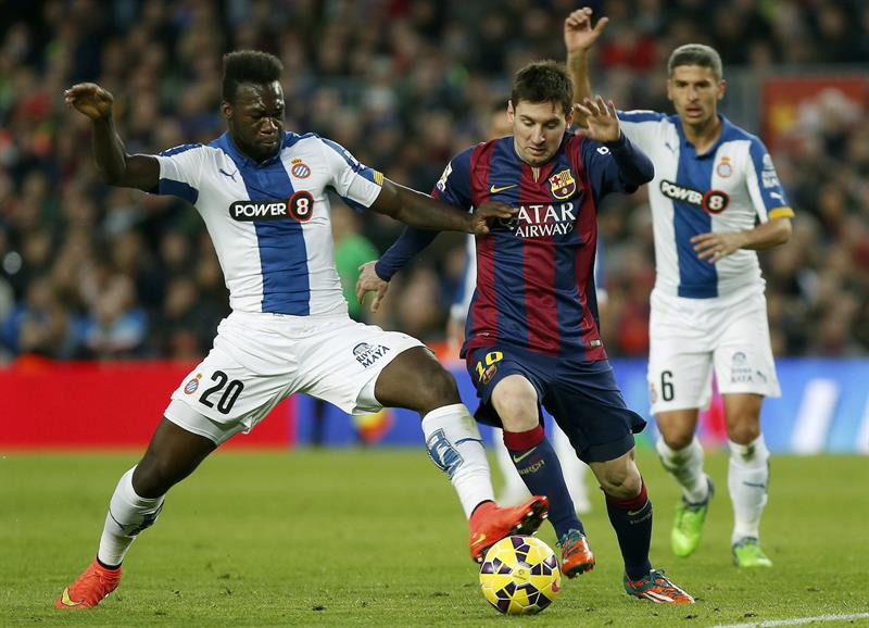 El triunfo del Barcelona en imágenes tras golear (5-1) al Epanyol con tripleta de Lionel Messi. Foto: EFE