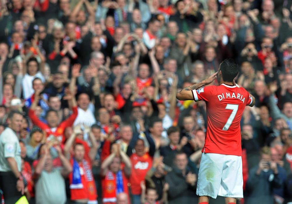 El Manchester United confirma que Di María podría volver ante el Aston Villa. Foto: EFE