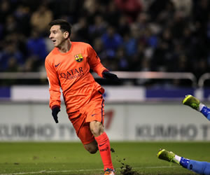 El mejor Messi reaparece en Riazor
