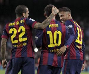 Messi decide a cinco minutos del final
