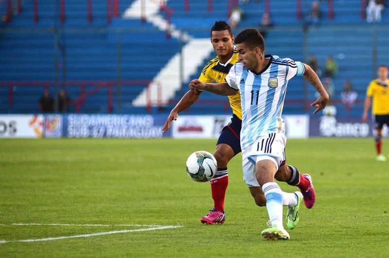 Colombia le ganaba 1-0 a Argentina, pero se dejó empatar en la agonía del partido. Foto: EFE