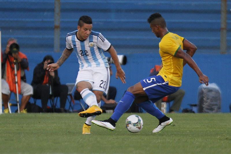 Argentina derrotó a Brasil el Hexagonal final del Sudamericano Sub'20. Foto: EFE