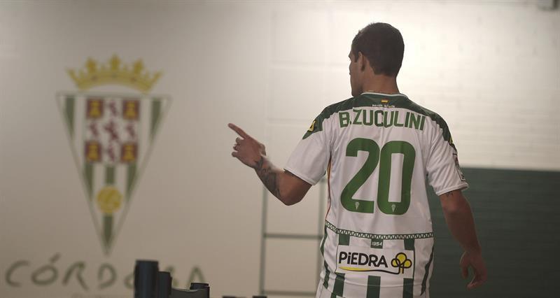 El centrocampista argentino Bruno Zuculini durante su presentación como nuevo jugador del Córdoba CF. Foto: EFE