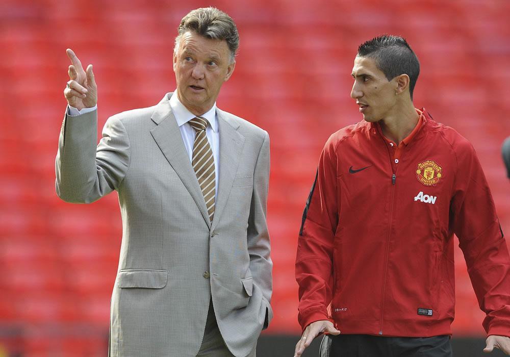 El holandés Louis van Gaal, DT del Manchester United, ha asegurado que el argentino Ángel Di María,