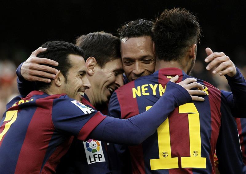 El jugador del FC Barcelona Lionel Messi, durante el partido ante el Levante. EFE