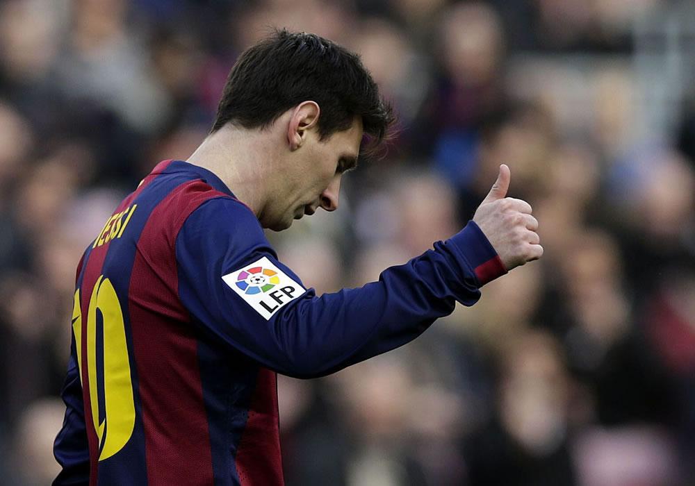 El jugador del FC Barcelona Lionel Messi, durante el partido ante el Levante. Foto: EFE