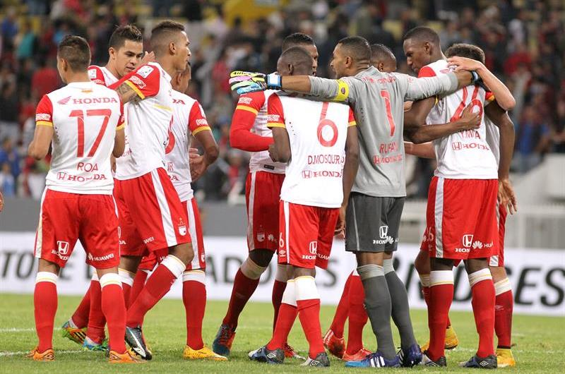 Santa Fe venció al Atlas en México 0-1 con un gol de Luis Carlos Arias. Foto: EFE.