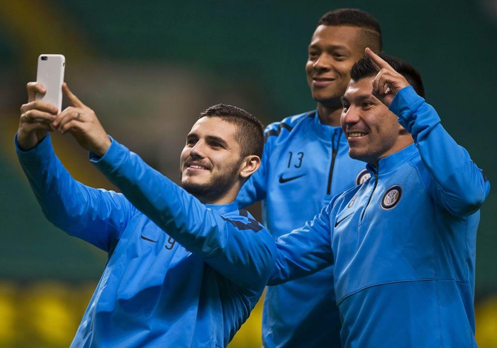 El argentino del Inter Mauro Icardi. Foto: EFE