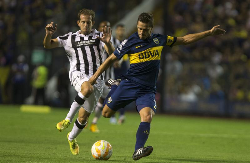 Boca Juniors venció a Montevideo Wanderers en La Bombonera. EFE