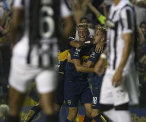 Boca le ganó a Montevideo Wanderers con gol del debutante Osvaldo