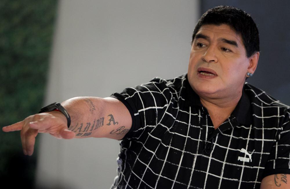 Maradona habló en Caracas, Venezuela, de Fidel Castro. Foto: EFE
