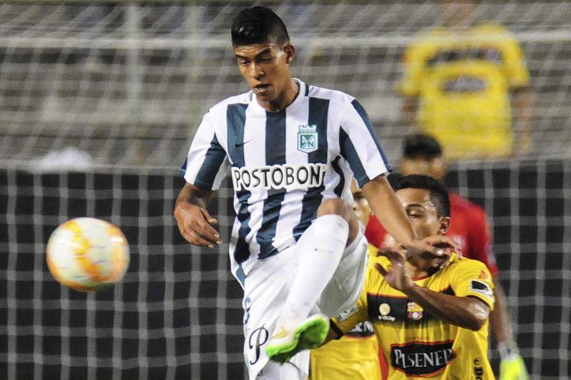 Barcelona anotó con Alemán (1') y Nacional remontó con Guerra (65') y Ruiz (95'). Foto: EFE.
