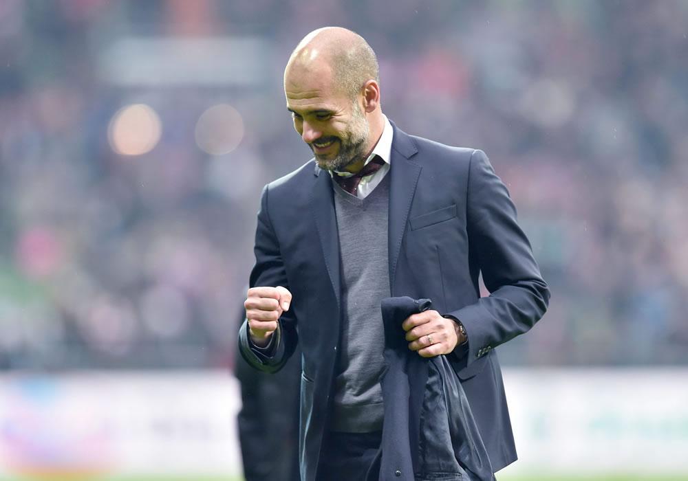 Josep Guardiola, entrenador del Bayern Munich. Foto: EFE