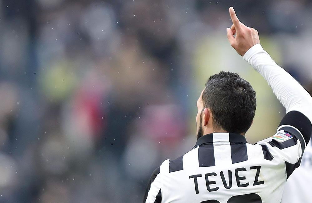 El jugador argentino Carlos Tévez. Foto: EFE
