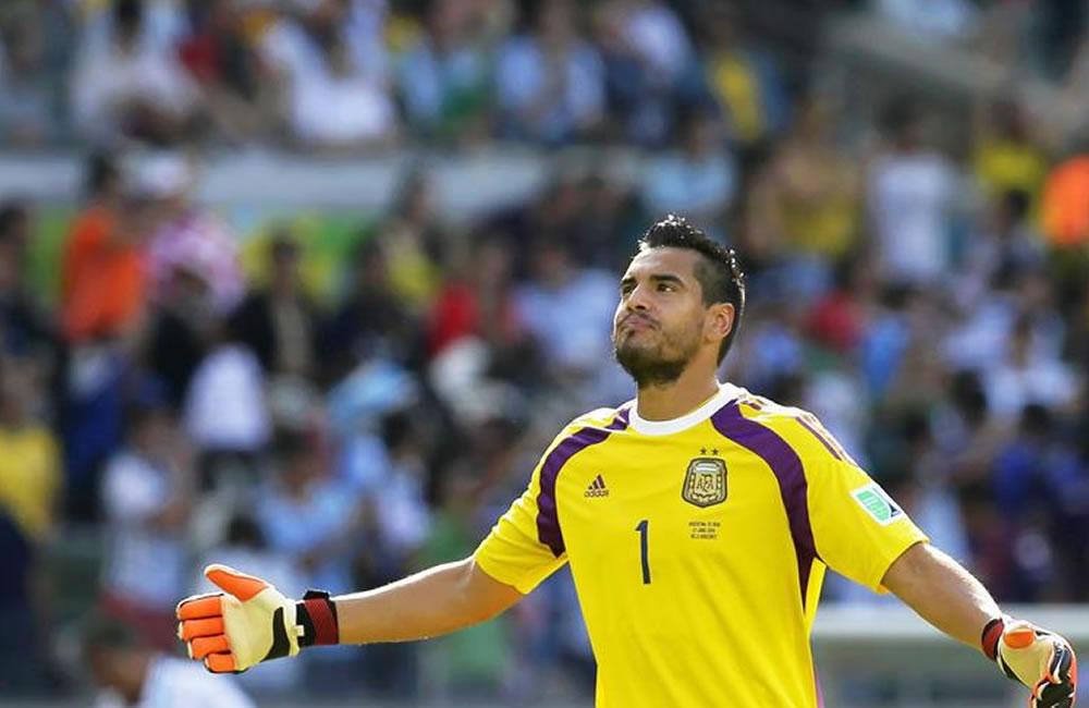 Sergio Romero, portero de la Selección Argentina y de la Sampdoria: /Archivo. Foto: EFE