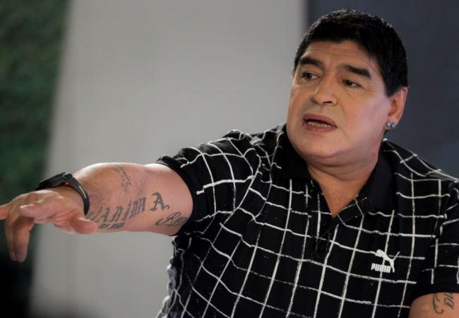 Diego Maradona será el gran atractivo de la jornada. Foto: EFE.