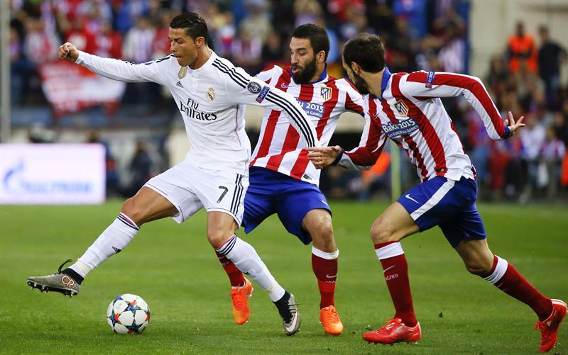 Atlético de Madrid vs Real Madrid. Liga de Campeones. Foto: EFE