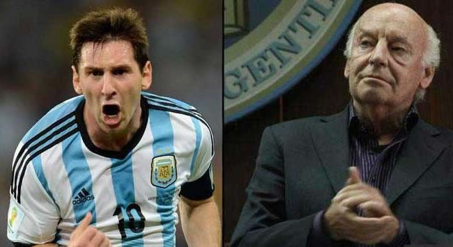 El periodista y escritor uruguayo Eduardo Galeano, nunca ocultó su admiración por Leo Messi. Foto: EFE