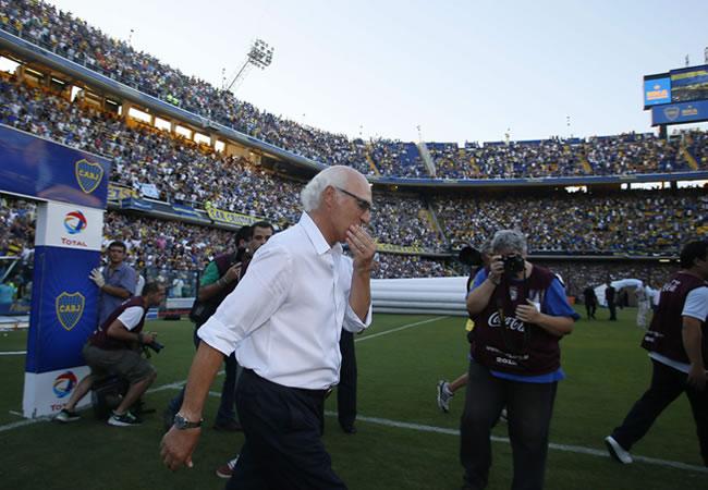 Boca le hará una estatua al técnico más ganador de su historia. Foto: EFE