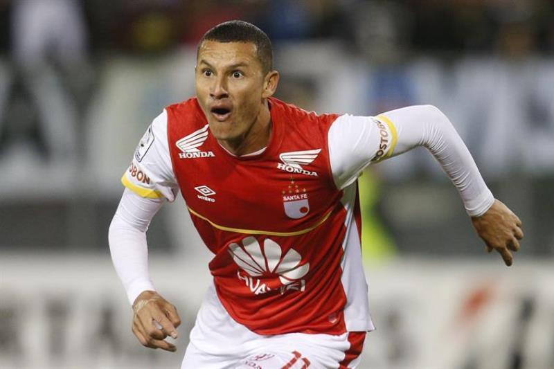 Santa Fe venció a Colo Colo con goles de Luis Páez, Ómar Pérez y Yerry Mina. Foto: EFE.