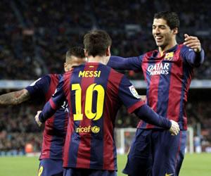 Messi también lidera el tridente suramericano del Barsa
