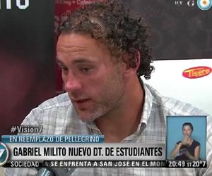 Gabriel Milito fue confirmado como nuevo DT de Estudiantes