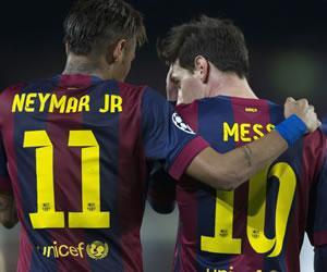Neymar se viste de Messi