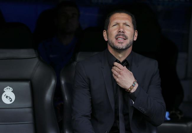 El argentino Diego Simeone, entrenador del Atlético de Madrid, antes del partido de vuelta de cuartos de final de la Liga de Campeones. Foto: EFE