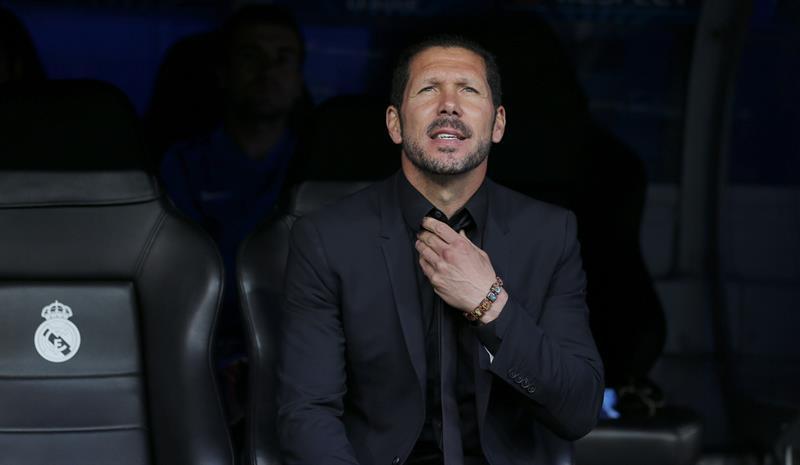 El argentino Diego Simeone, entrenador del Atlético de Madrid. EFE