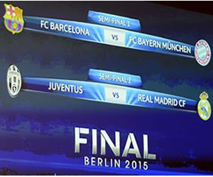 Liga de Campeones: así quedaron las semifinales