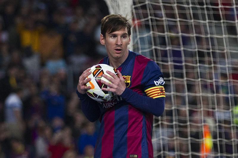 El delantero argentino del FC Barcelona Leo Messi durante el partido correspondiente a la jornada 34 de Liga española. Foto: EFE
