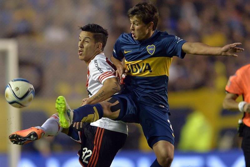 Boca ganó 2-0 con goles de Cristian Pavón (85') y Pablo Pérez (88'). Foto: EFE.