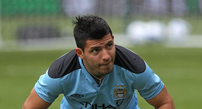 Sergio 'Kun' Agüero (Manchester City): Foto: EFE/Archivo