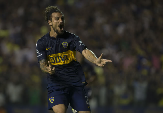 Daniel Osvaldo, delantero del CA Boca Juniors. Foto: EFE