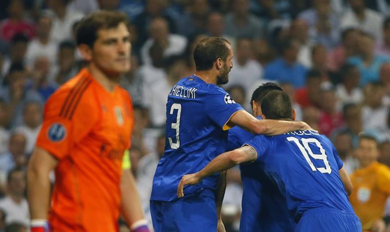 Los jugadores de la Juventus celebran el primer y único gol del equipo italiano. Foto: EFE