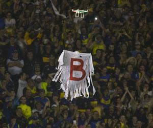 Boca vs. River: El 'dron' fue otro complemento para el papelón
