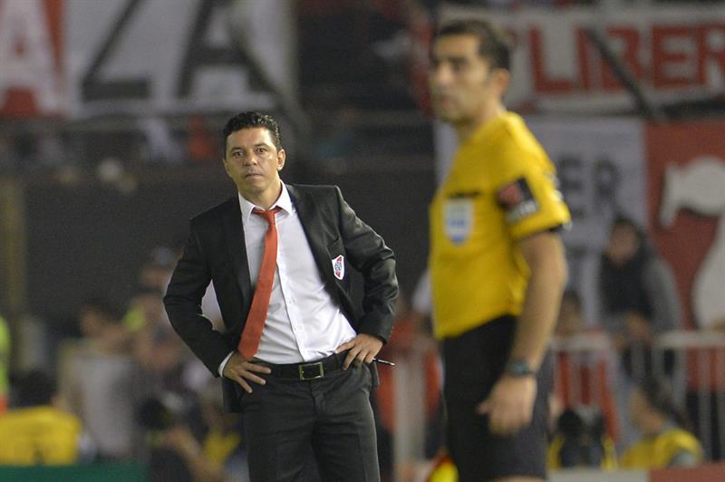 El entrenador de River Plate, Marcelo Gallardo. Foto: EFE