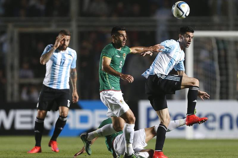 Argentina ganó 5-0 con tres goles de Agüero y dos de Di María. Foto: EFE