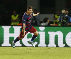 Lionel Messi gana con el Barcelona la Supercopa de Europa