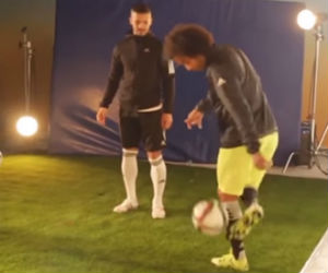 Marcelo muestra al estilo Freestyle su talento en el fútbol