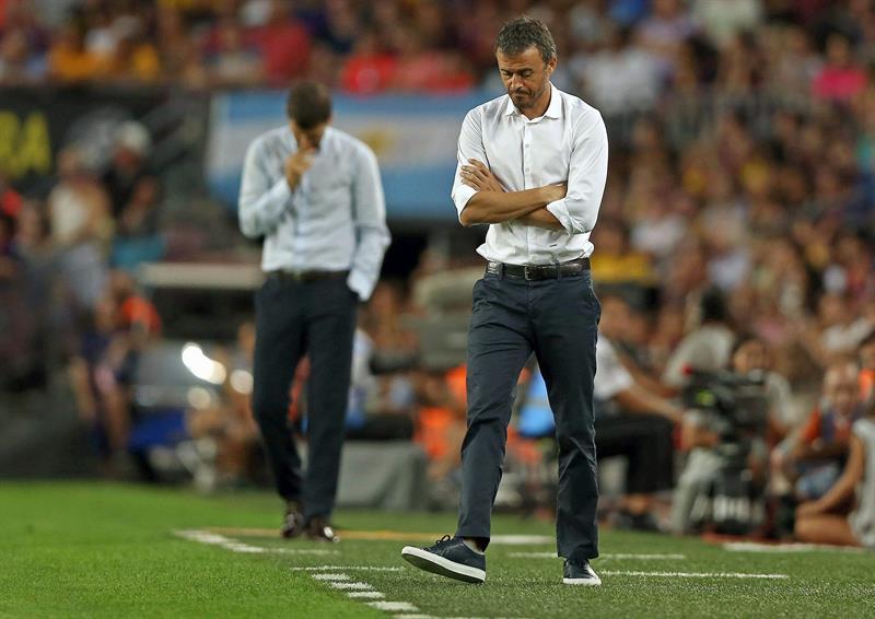 RA266. BARCELONA, 29/08/2015.- El entrenador del FC Barcelona Luis Enrique ante Málaga. EFE