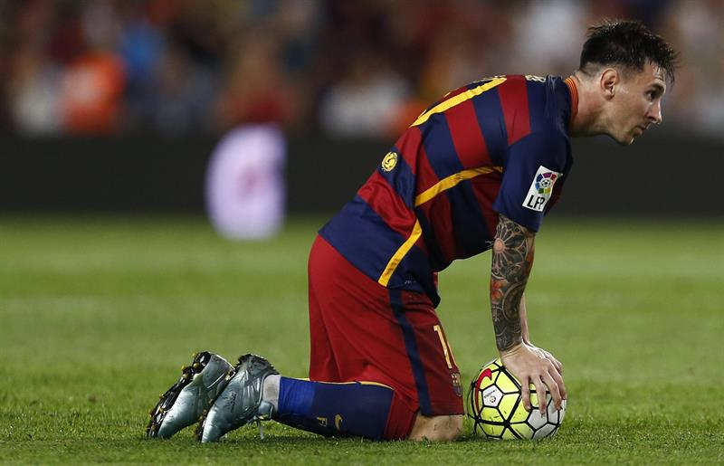 El delantero argentino del FC Barcelona Leo Messi durante el partido, correspondiente a la segunda jornada. EFE