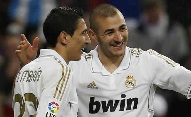 Ángel Di María y Karim Benzema. Foto: EFE