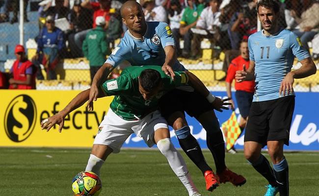 La derrota de Bolivia ante Uruguay. Foto: EFE