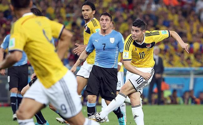 El gol de James a Uruguay, uno de los más lindos a los 'charruas'. Foto: EFE
